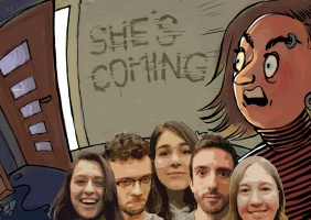 She's coming