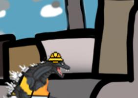 Godzilla Tries His Best