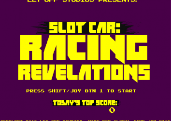 Title screen for Slot Car: Racing Revelations
